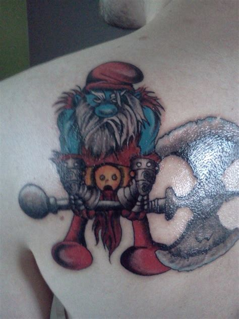 papa smurf tattoo by ensiferum15 on deviantart