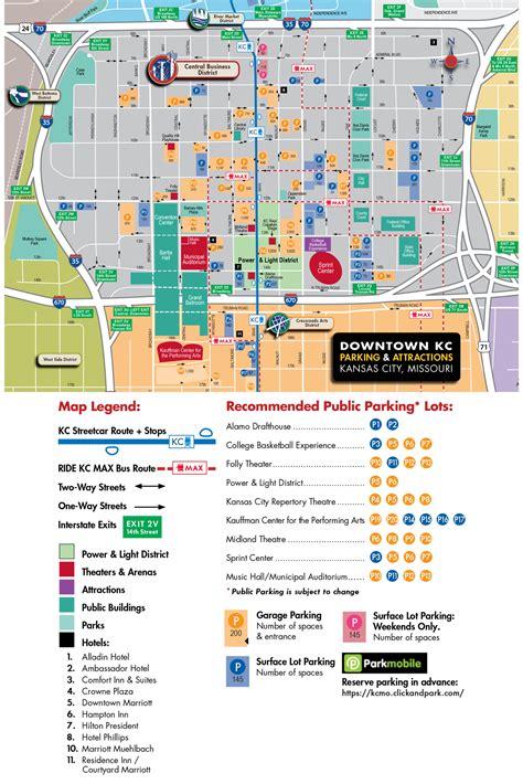 power and light parking downtown kansas city parking map visit kc