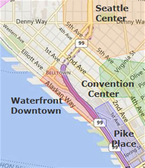 seattle hotels map downtown seattle waterfront hotels seattle washington wa
