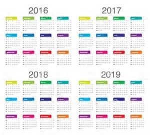 Calendario 2018 E 2019 Calendario De 2016 2017 De 2018 2019 Stock Foto E Imagen