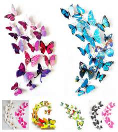 butterfly wall stickers australia free shipping 12pcs pvc 3d butterfly wall decor cute