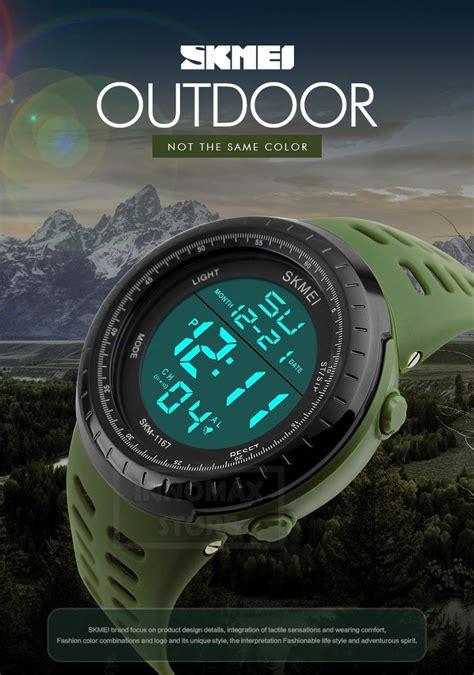 Termurah Skmei Sport 1081 Original Water Resistant 50m Black Or skmei sports 1167 stop water resistant 50m 11street malaysia sport watches