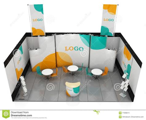 exhibition stand design template blank creative exhibition stand design booth template 3d