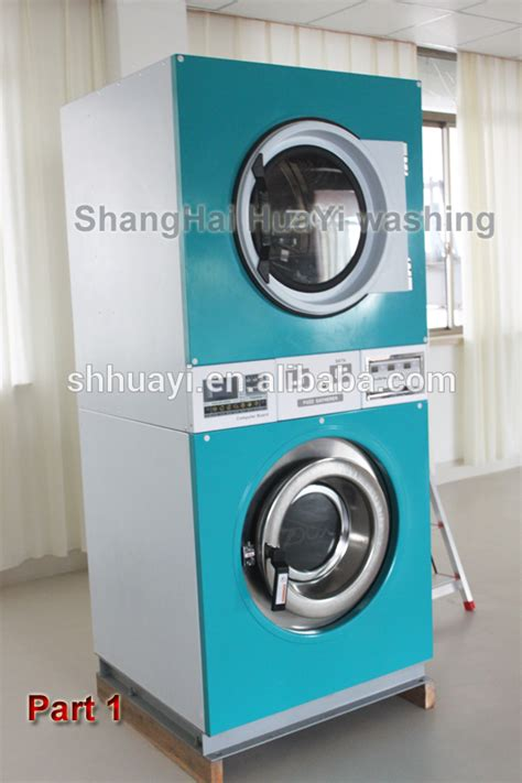 Replica Dual Washer stack commercial coin operated washer and dryer sets prices stack 2 layers dryers