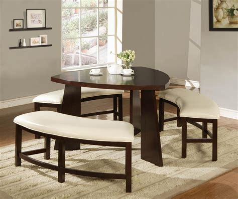 breakfast table with bench triangle dining room table laurensthoughts com