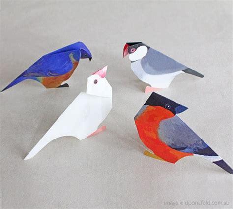 Folded Paper Birds - paper birds origami