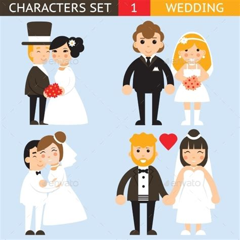 wedding characters wedding characters set by meilun graphicriver