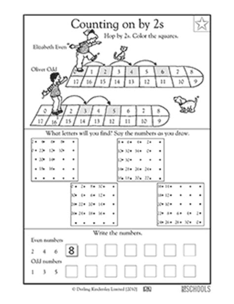 hopping pattern worksheet 1st grade 2nd grade math worksheets hopping by 2s part