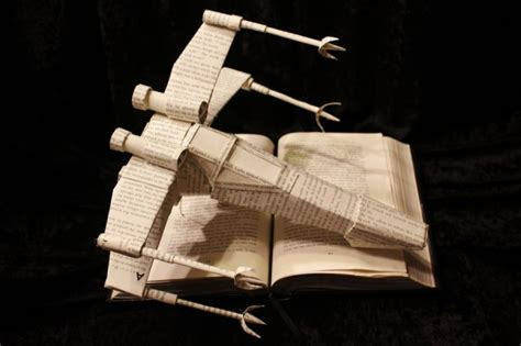 wing books papercraft x wing made from the pages of wars books