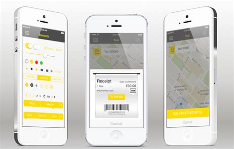 templates for apps taxi iphone app template