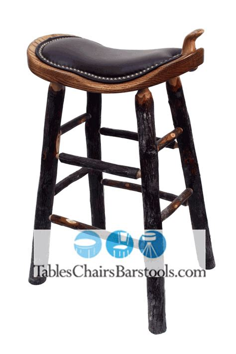 Leather Saddle Style Bar Stools by Amish Built Rustic Lodge Western Style Bar Stool With