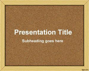 Bulletin Board Powerpoint Template Board Powerpoint Template