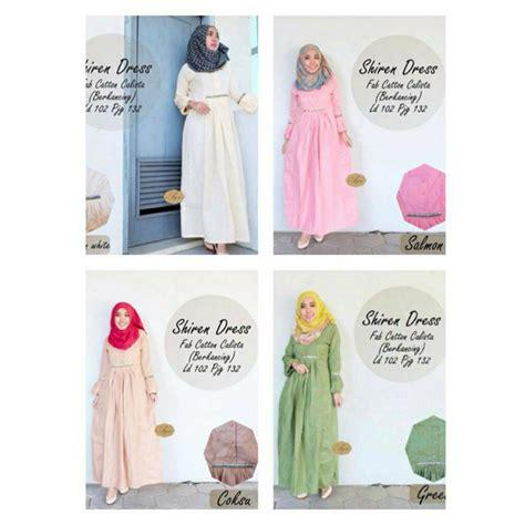 Shiren Set Salem Grosir Baju Muslim Baju Gamis Baju Murah baju murah shiren dress grosir baju muslim pakaian
