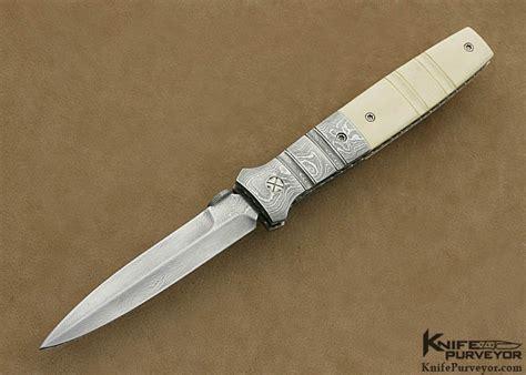 mel pardue damascus linerlock dagger knifepurveyor