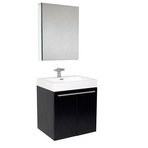 black bathroom medicine cabinet fresca senza alto black modern bathroom vanity w medicine