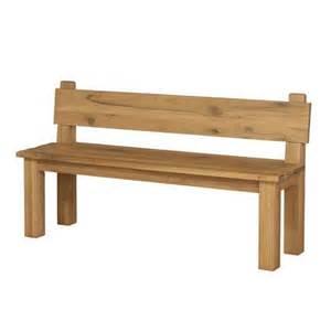 solid oak large bench design wooden furniture with backrest