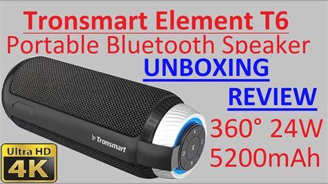 Tronsmart Soundbar Stereo Bluetooth Speaker T6 unboxing review 4k tronsmart element t6 360 176 25w 5200mah portable bluetooth speaker