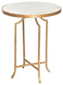 fiji regency gold leaf marble end table