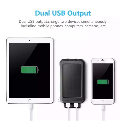 solar charger android wide compatible solar charger power bank 10000mah android