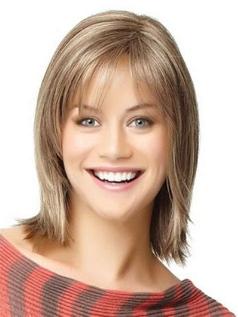shoulder length hair cuts for chubby faces mid length face framing layers newhairstylesformen2014 com