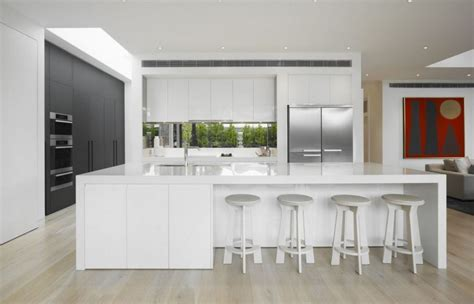 kitchen with white cabinets and built in modern kitchen modern white kitchen cabinets home furniture design