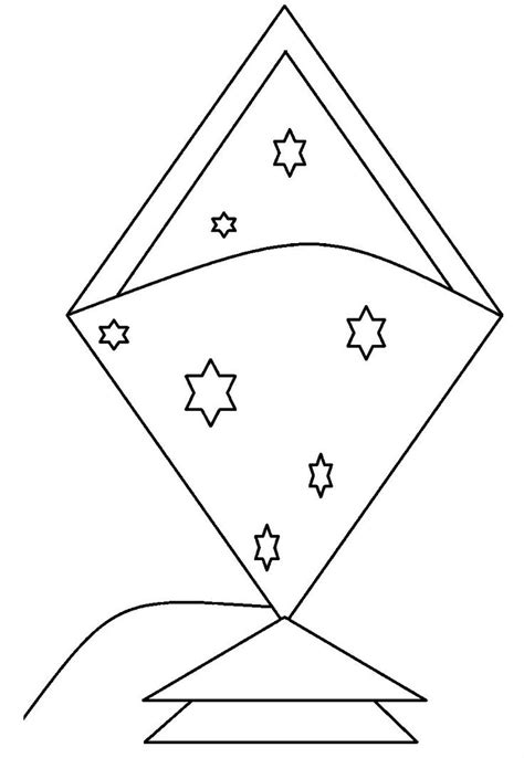 coloring page of a kite 34 best kites images on pinterest kite kites and kids net