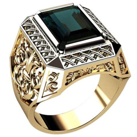 Mens Ring by Mens Ring Turmalin Replace The Design On The Side