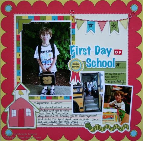 scrapbook layout first day of school first day of school scrapbook com school layouts