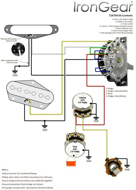 4 way telecaster wiring diagram wiring diagram for