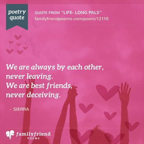 life long pals life long friend poem