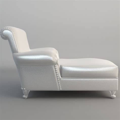 white leather couch with chaise white leather chaise chair 3d model max obj 3ds fbx