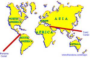 Suez Canal In World Map by Suez Canal World Map Image Search Results
