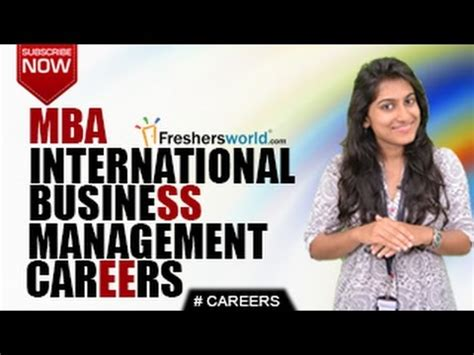 What Is A Mba In International Business by Careers In International Business Management Bbm Mba Cat