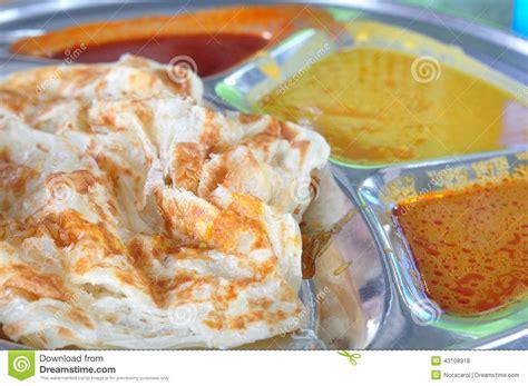 roti canai flat bread indian food stock photo image