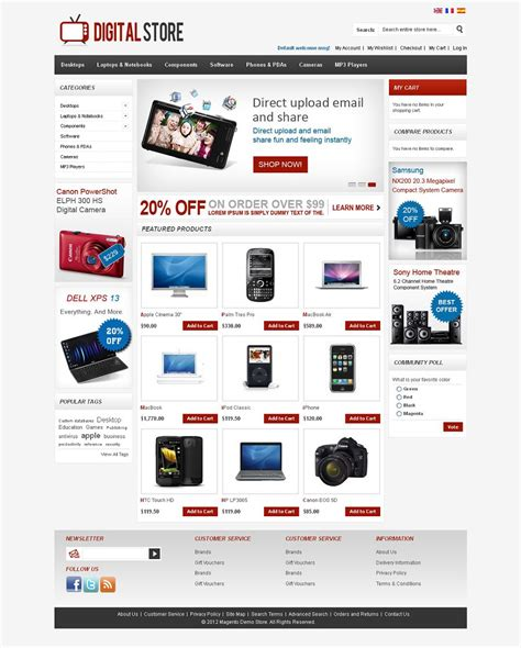 magento ecommerce templates free mag080137 premium magento digital store template
