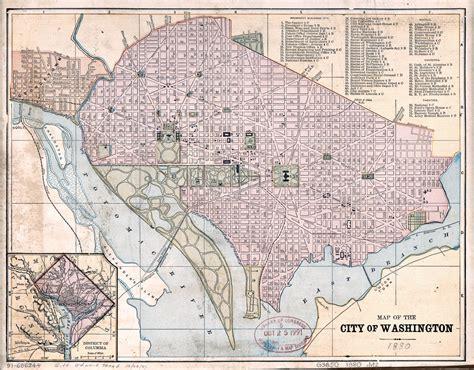 washington dc on map of usa large detailed map of the city of washington dc 1880