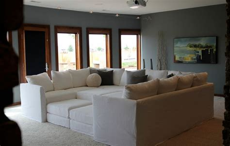 large living room decor with big white sofa motiq online how to decorate with oversized sofas