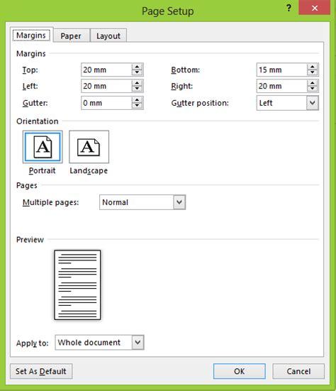 fungsi layout page setup materi pembelajaran komputer kumpulan materi materi