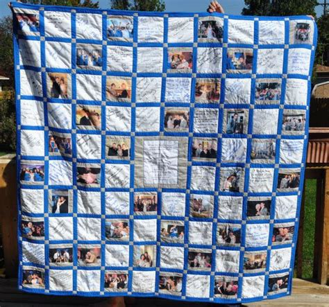 Graduation Quilts by Wedding Guest Book Signature Quilt Graduation Shower