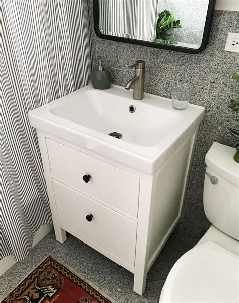 how to install bathroom cabinets and vanities installing a hemnes odensvik bathroom vanity and sink