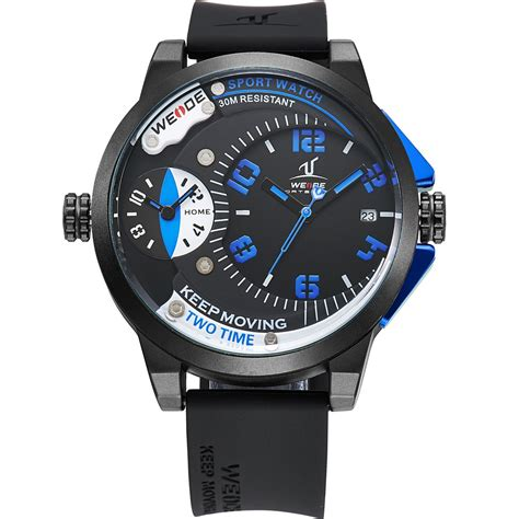 weide universe series dual time zone 30m water resistance uv1501 blue jakartanotebook