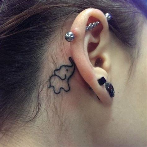 Tattoo Behind Ear Risks | 25 best ideas about small elephant on pinterest small
