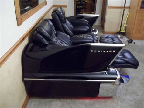 car seat couch for sale 1958 cadillac couch sofa with reclining leather seats for