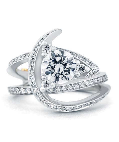 Wedding Rings Luxury by Luxury Contemporary Engagement Ring Schneider Design