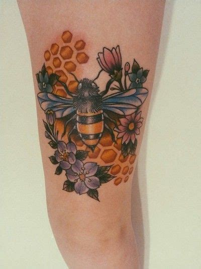 redness around tattoo honey bee done by minor at artistic impressions in