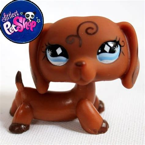 lps puppy littlest pet shop lps brown dachshund free shiooing figures toys pets