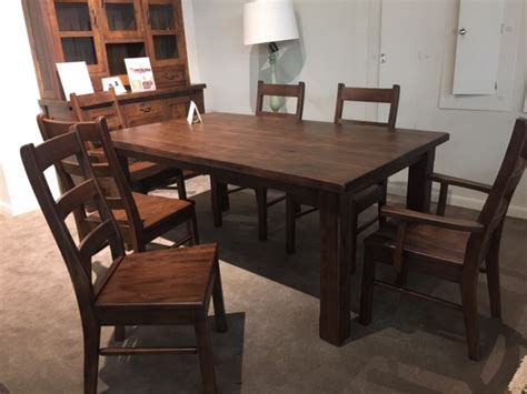 amish dining room set amish walnut dining set dining room