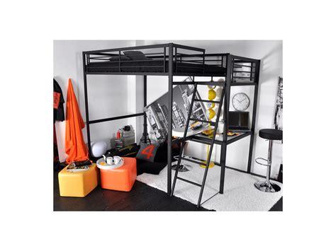 lit mezzanine 140 avec bureau lit mezzanine casual ii 2 personnes bureau noir blanc