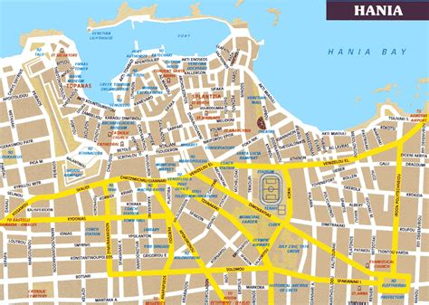 city map crete maps print maps of crete map of chania or heraklion