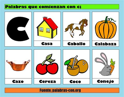 Palabras Con La Letra C C Ejemplos De Palabras Con C | palabras con la letra c c ejemplos de palabras con c